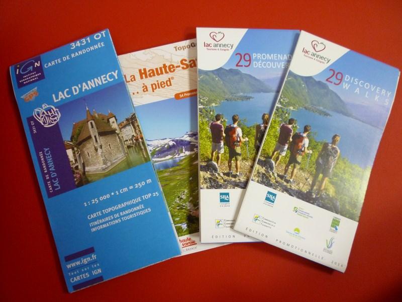 Livres, guides et cartes de randonnée