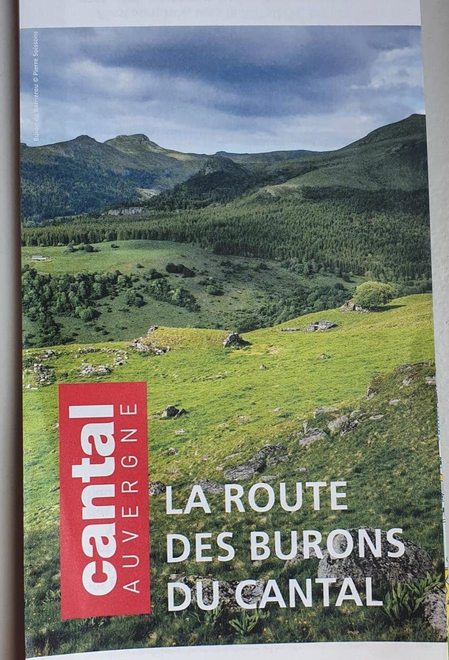 CARTE DE LA ROUTE DES BURONS DU CANTAL