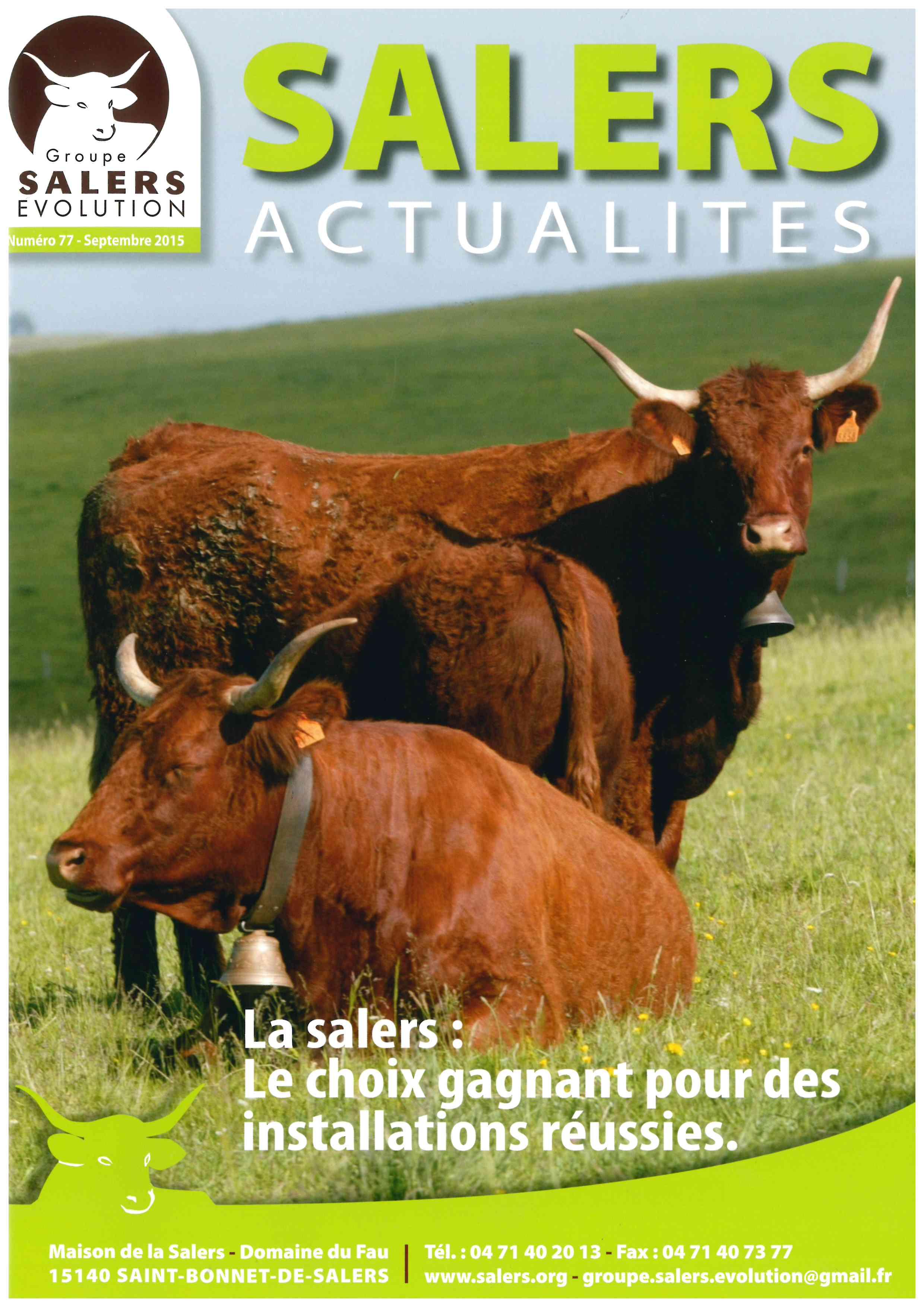 Abonnement Magazine Salers Actualités