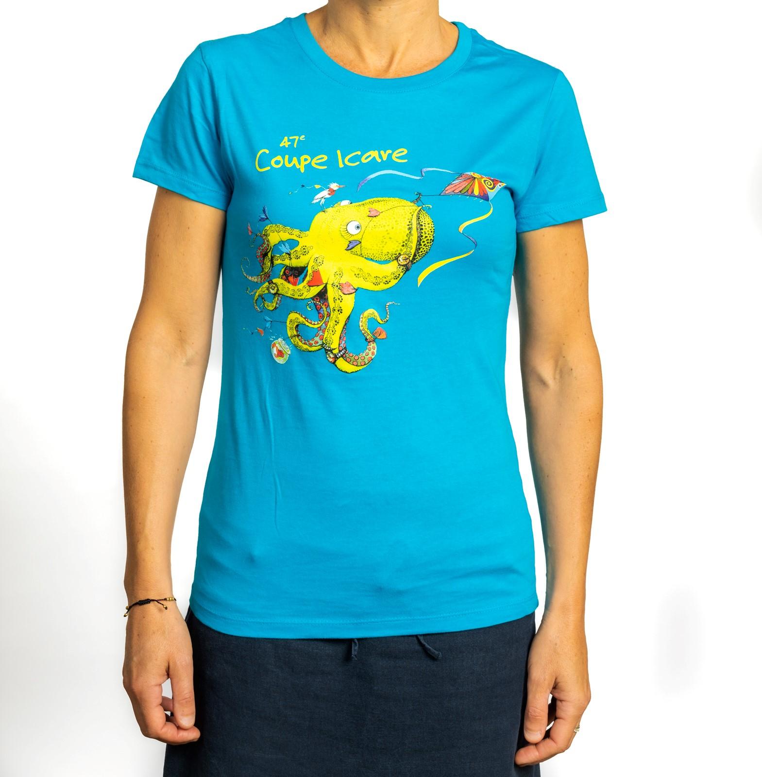 T-Shirt Femme Bleu Aqua