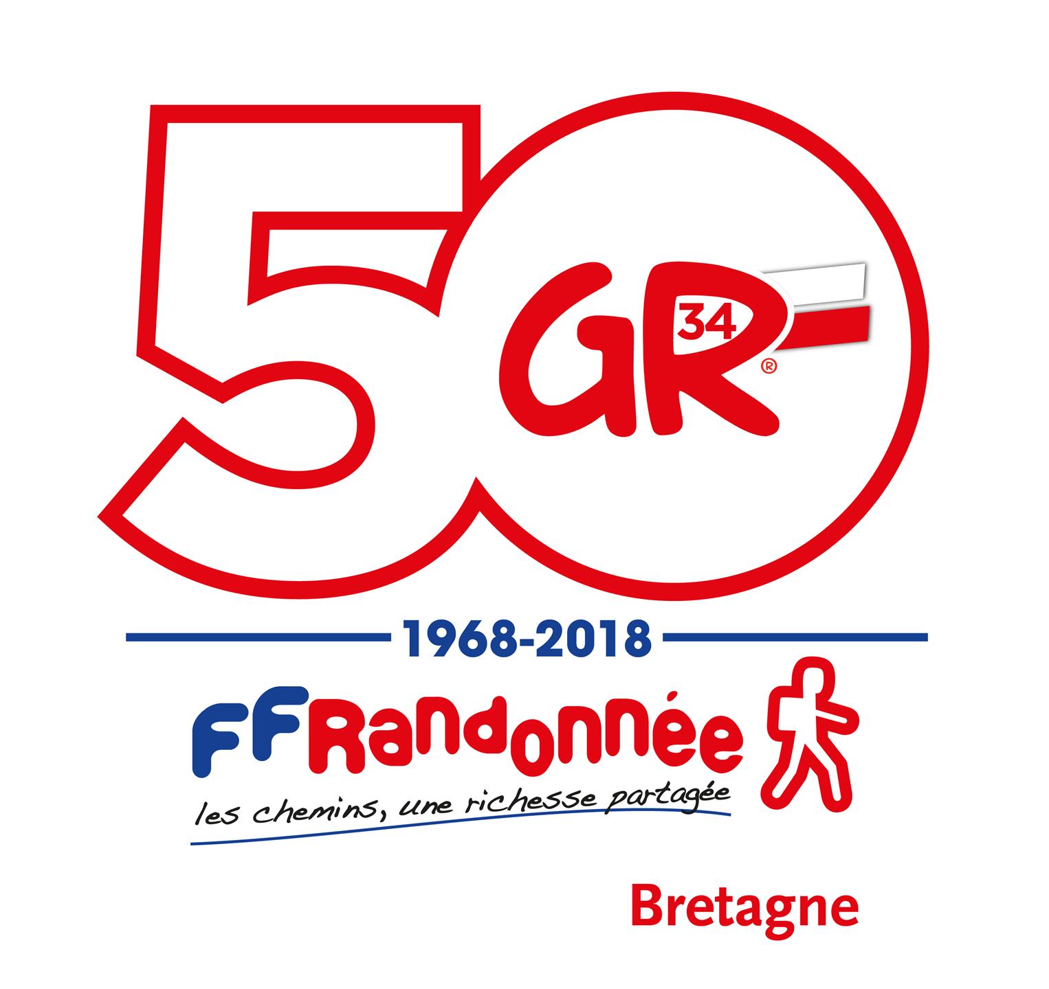 Timbres 50 ans du GR®34