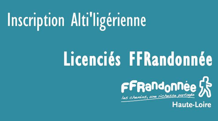 Inscription licenciés FFRandonnée