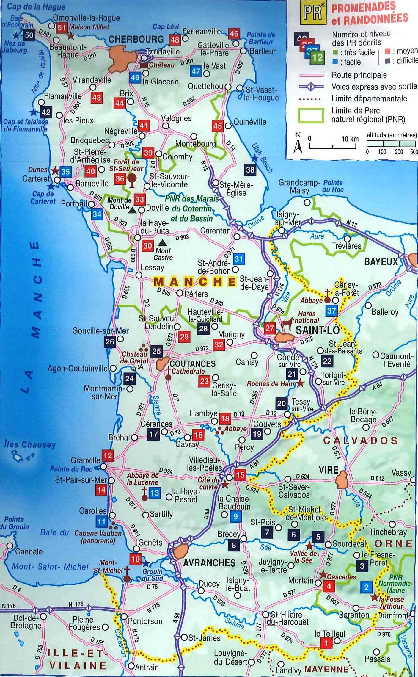 carte du cotentin détaillée Vous avez cherché cotentin carte tourisme   Arts et Voyages