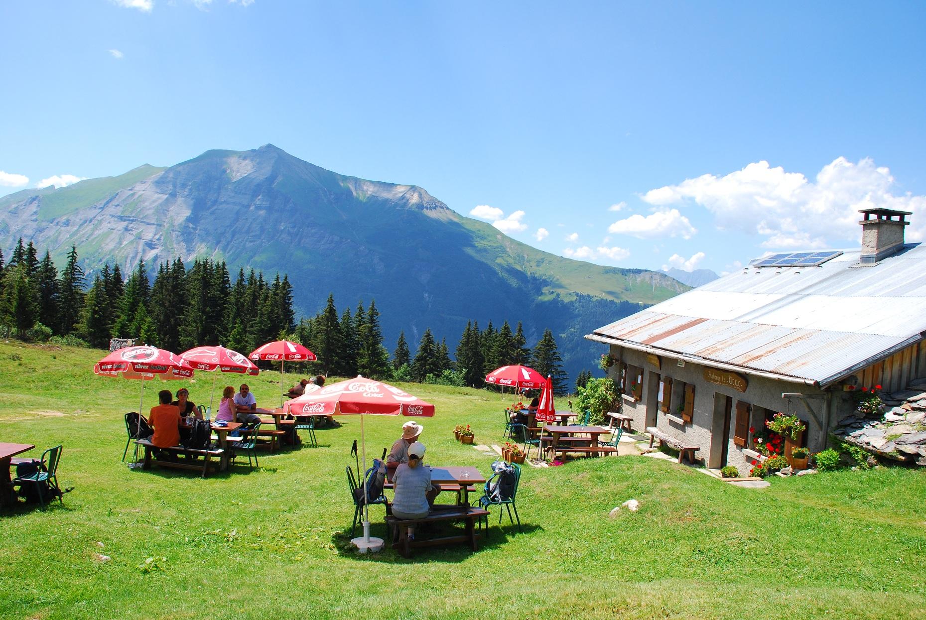 la terrasse et le Mont Joly ©